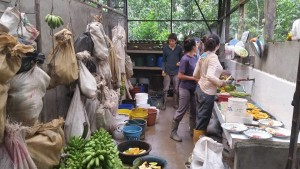 The craziness in the bodega preparing all the food for the animals meals