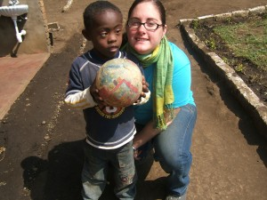 Crystal at special needs school in Tanzania. Volunteer opportunities are all around the world.