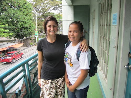 Guest Blogger Kathryn Jacoby and an agricultural science student on a VolunTravel trip to the Philippines.