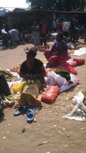 The market in Zambia. Shopping for the kids at OZ Kids International Orphanage.