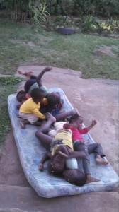 Kids having fun at a Zambian Orphanage