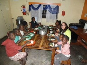 Dinner time at a Zambian Orphanage